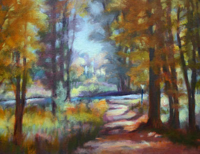Forest Path Painting by artist Carol Jo Smidt