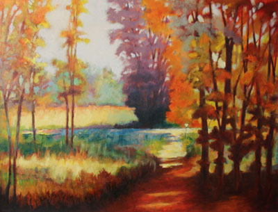 The Path painting by artist Carol Jo Smidt